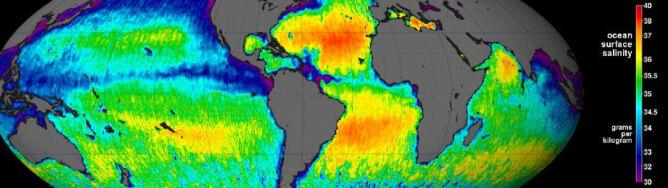 Pierwsza mapa poziomu zasolenia wód