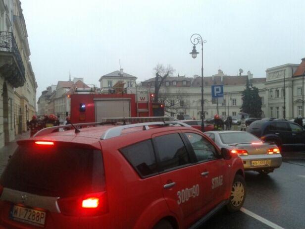 Pożar w budynku ZUS-u Tomasz Zieliński / Tvnwarszawa.pl