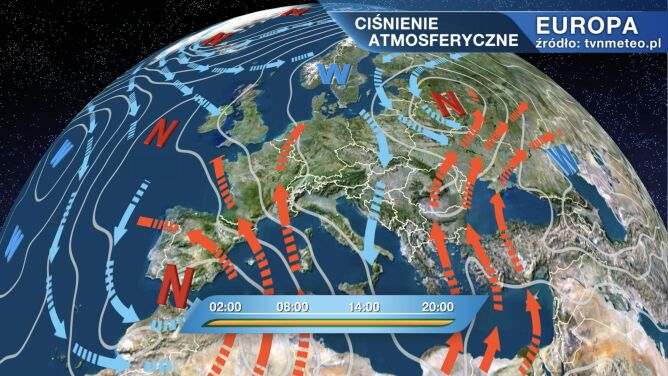 Pogodą w Polsce rządzi niż Tanja
