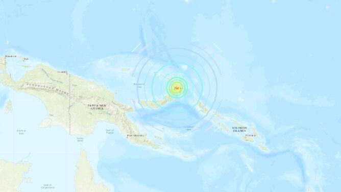 Silne trzęsienie ziemi w Papui-Nowej Gwinei