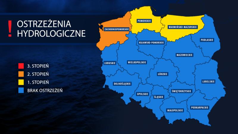 IMGW wydał ostrzeżenia hydrologiczne dla większości regionów Polski