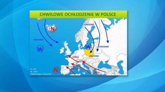 Chwilowe ochłodzenie w Polsce