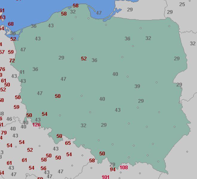 Porywy wiatru we wtorek (wetteronline.de)